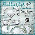 Shabby Chic Treasures - resin - Lace Heart