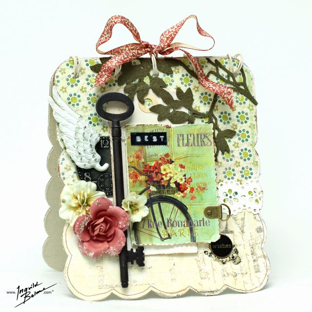 Best Wishes - canvas album card - 3NDY PAPIR