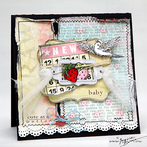 New Baby card - LAYERS OF COLORS