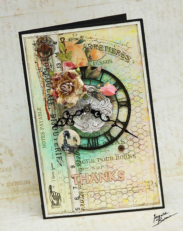 Romance Industrial Thanks card - Scrapbookshop in Russia