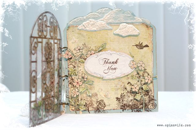 Thank you card - open felt gate